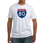 Interstate 80 Fitted T-Shirt