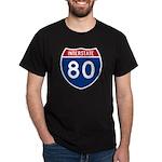 Interstate 80 Black T-Shirt