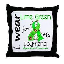 I Wear Lime 43 Lymphoma Throw Pillow