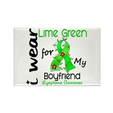 I Wear Lime 43 Lymphoma Rectangle Magnet