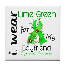 I Wear Lime 43 Lymphoma Tile Coaster