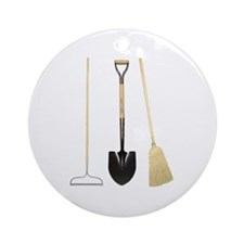 Gardening Tools Ornament (Round)