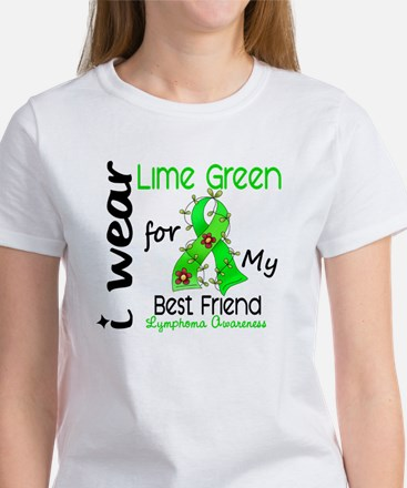 I Wear Lime 43 Lymphoma Women's T-Shirt