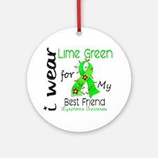 I Wear Lime 43 Lymphoma Ornament (Round)