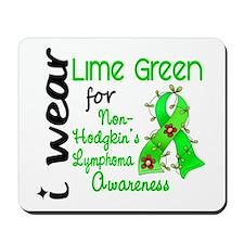 I Wear Lime 43 Lymphoma Mousepad