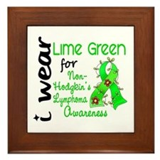 I Wear Lime 43 Lymphoma Framed Tile