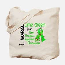 I Wear Lime 43 Lymphoma Tote Bag