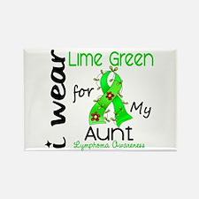 I Wear Lime 43 Lymphoma Rectangle Magnet