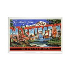 Washington State Greetings Rectangle Magnet
