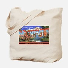 Washington State Greetings Tote Bag
