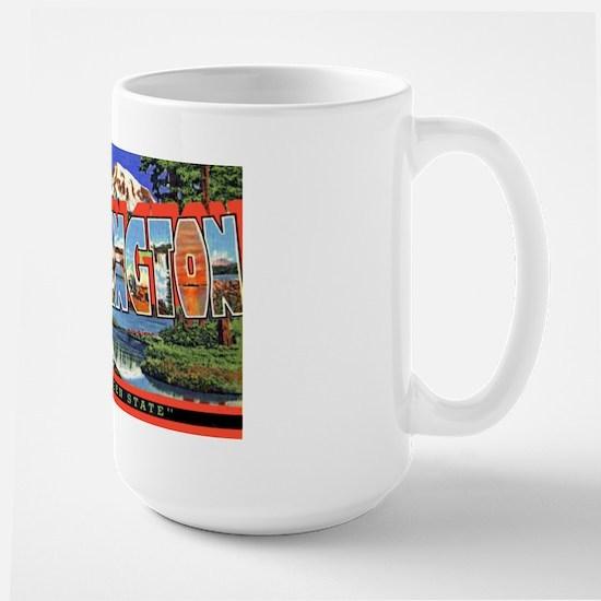Washington State Greetings Large Mug