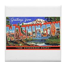 Washington State Greetings Tile Coaster