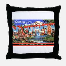 Washington State Greetings Throw Pillow