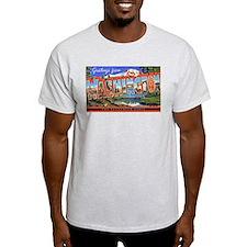 Washington State Greetings (Front) Ash Grey T-Shir