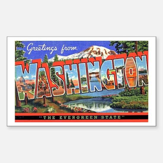 Washington State Greetings Rectangle Decal