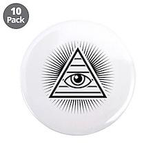 "Eye 3.5"" Button (10 pack)"