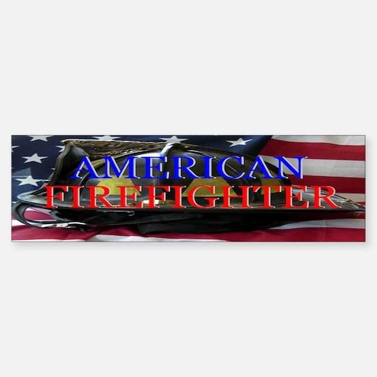 AMERICAN FIREFIGHTER Bumper Bumper Bumper Sticker