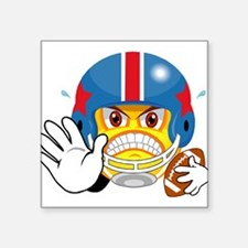 """FOOTBALL_SMILEY_1.png Square Sticker 3"""" x 3"""""""