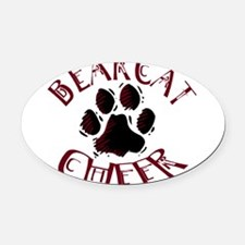 BCHEER5.png Oval Car Magnet