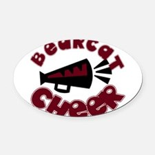 BCHEER9.png Oval Car Magnet