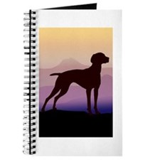 vizsla dog w/purple mountains Journal