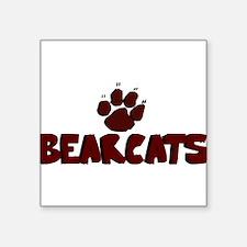 "BEARCATS8.png Square Sticker 3"" x 3"""