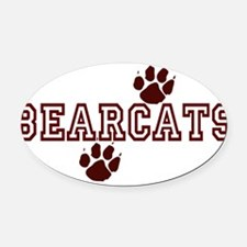 BEARCATS5.png Oval Car Magnet