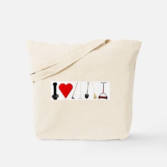 I Love Garden Tools Tote Bag