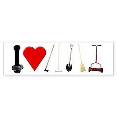 I Love Garden Tools Bumper Bumper Sticker