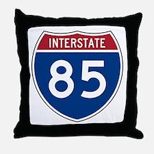 Interstate 85 Throw Pillow