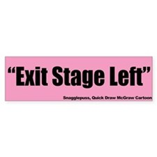 Exit Stage Left - Snagglepuss, Quick Draw Bumper Sticker