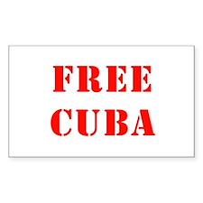 Free Cuba Rectangle Decal