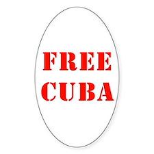 Free Cuba Oval Decal