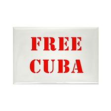 Free Cuba Rectangle Magnet