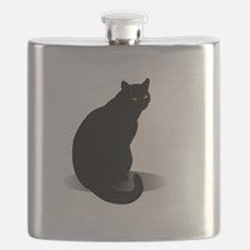Basic Black Cat Flask