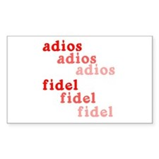 Fade Away Fidel Castro Rectangle Decal