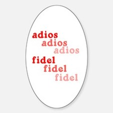 Fade Away Fidel Castro Oval Decal