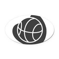 j0325764_GRAY.png Oval Car Magnet