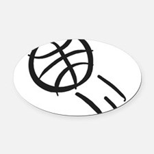j0330064_GRAY.png Oval Car Magnet