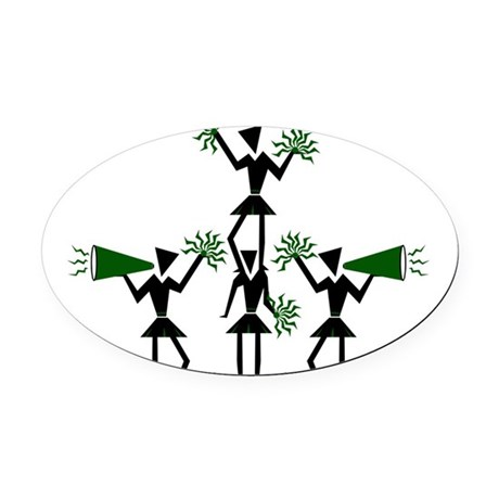 pe03202_GREEN.png Oval Car Magnet