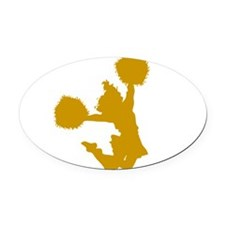 32217190_3a_GOLD.png Oval Car Magnet