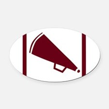 j0383900maroon.png Oval Car Magnet