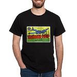 Wendover Field Utah (Front) Black T-Shirt
