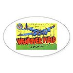 Wendover Field Utah Oval Sticker