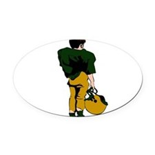 32213749_GREENGOLD.png Oval Car Magnet