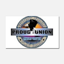 PROUD TO BE UNION Car Magnet 20 x 12