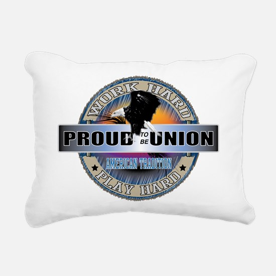 PROUD TO BE UNION Rectangular Canvas Pillow