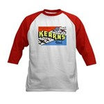 Camp Kearns Utah (Front) Kids Baseball Jersey