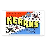 Camp Kearns Utah Rectangle Sticker