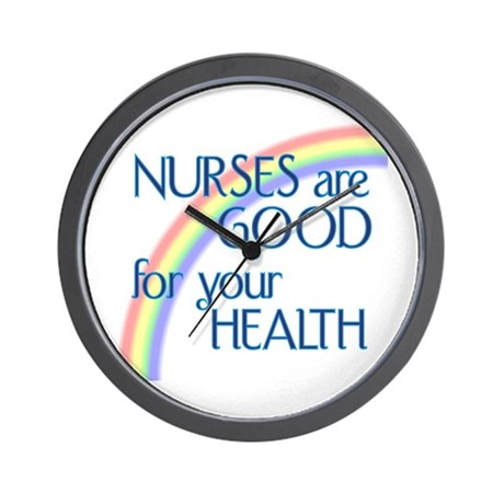 Nurses Are Good For Your Heal Wall Clock